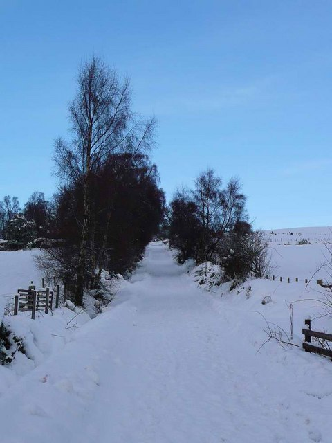 Snowbound - the road to Farley