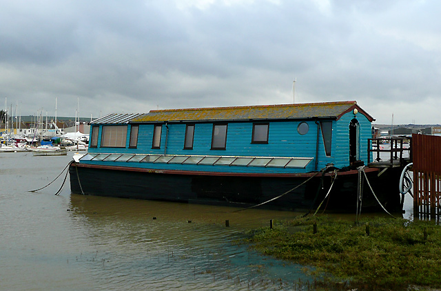 Houseboat at Shoreham Beach, West Sussex
