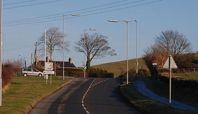 The Capel Dewi road leaving Aberystwyth