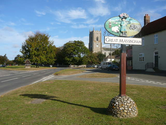 The village green at Great Massingham