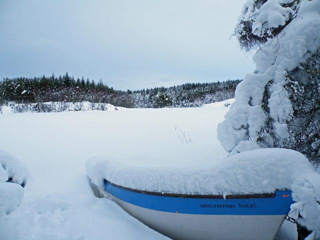 Fishing boat on Loch Bran