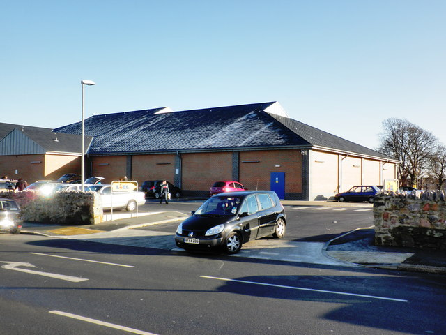 Entrance to Lidl car park, Ford, Plymouth