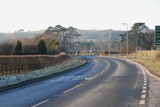 The A44 at Lovesgrove