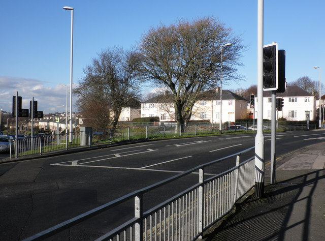 Road intersection, at Beacon Park Road, Plymouth