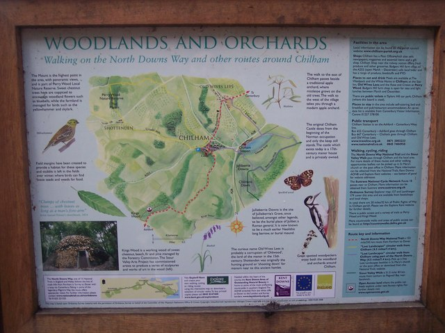Woodlands and Orchards Information Board