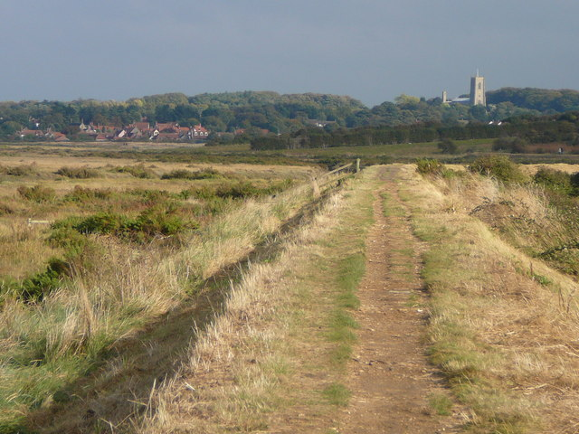 Norfolk Coastal Path by Morston Salt Marshes