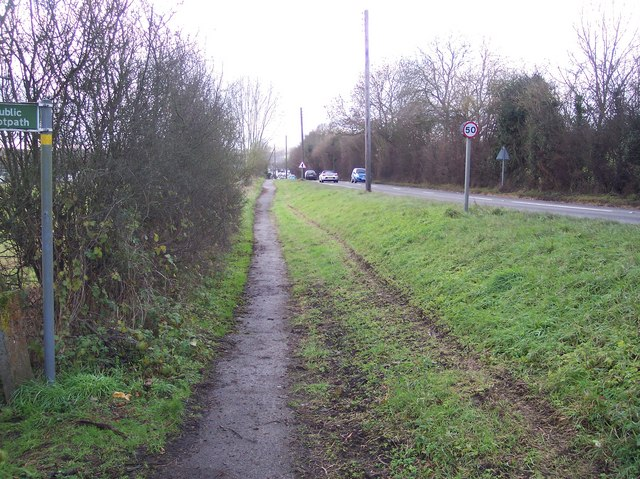 Footpath beside the A28 Canterbury Road