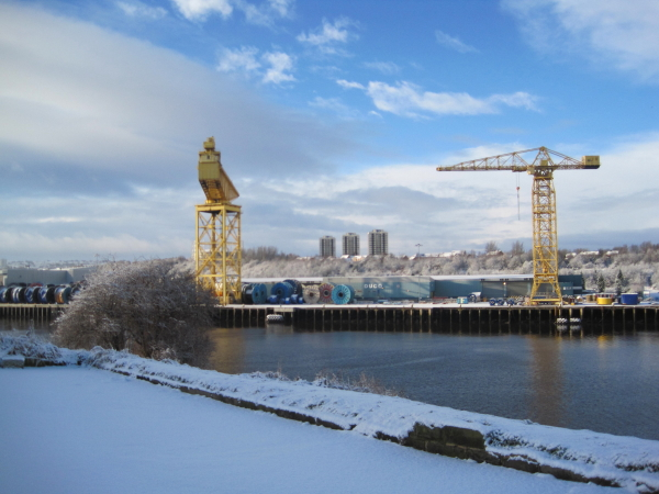 Cranes on the River Tyne