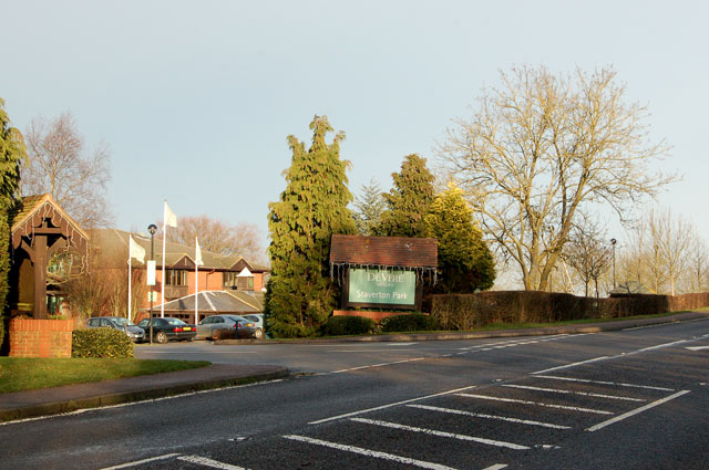 Hotel entrance from the A425, Staverton