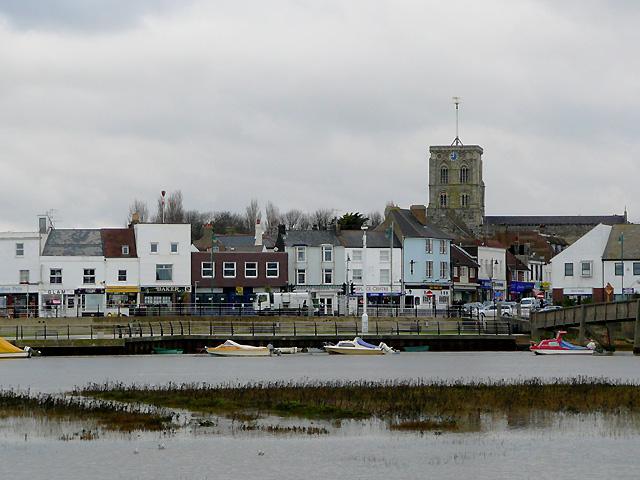 Shoreham seen from Shoreham Beach, West Sussex