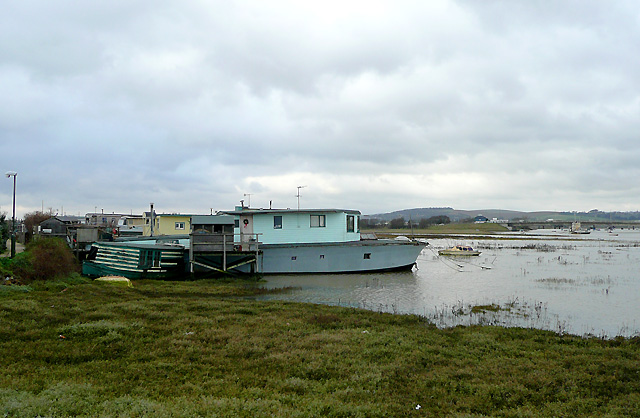 Houseboats at Shoreham Beach, West Sussex