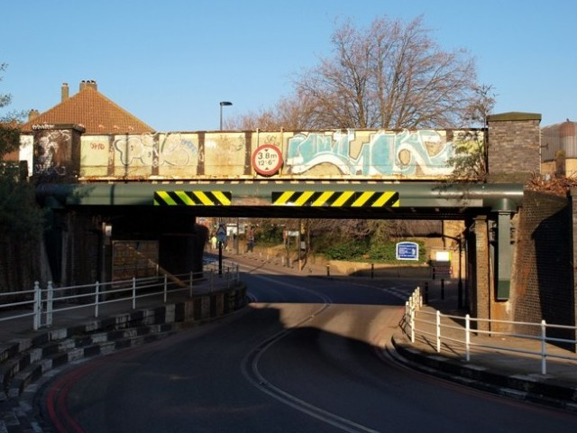 Railway Bridge at the low point of Latchmere Road