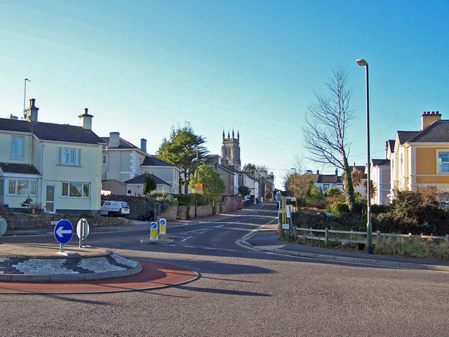 Roundabout in St Mary Church Road, Torquay