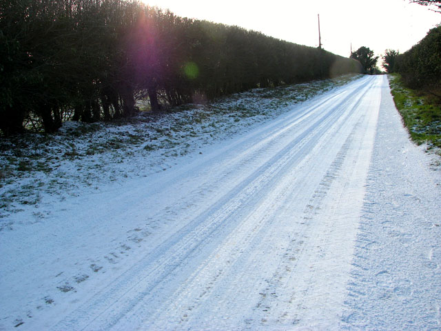 A very icy New Road