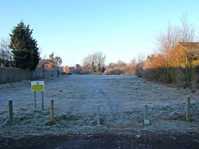 Site of possible access road to proposed new Tesco store