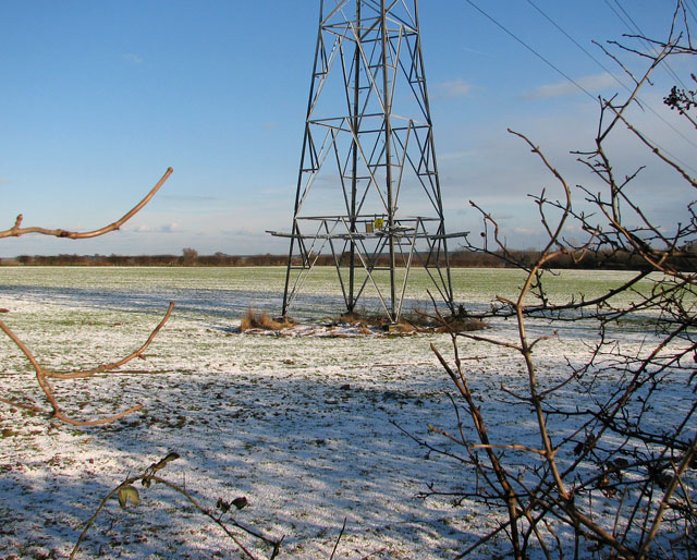Pylon in frozen field