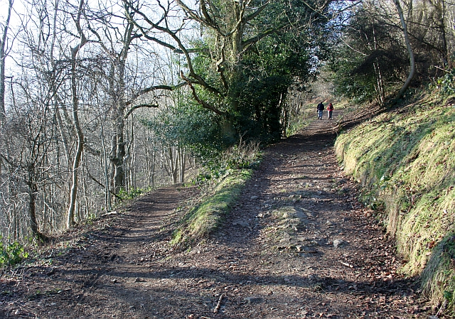 Path crossing on the side of the Malvern Hills