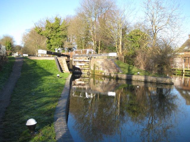 Grand Union Canal: Lock Number 73: Hunton Bridge Bottom Lock