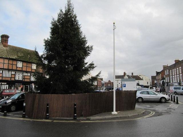 Car park past the tree