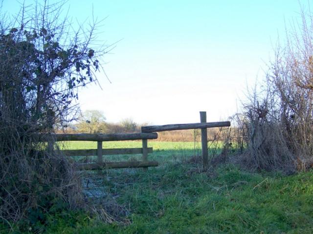 Horse jump near Bradford Farm