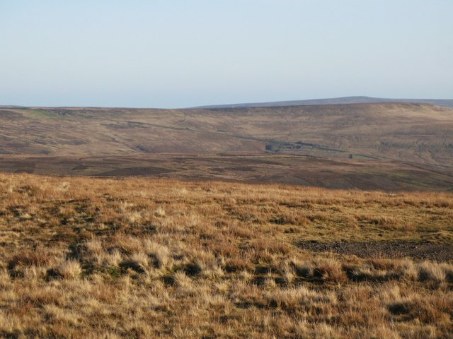 Panorama from the upper Rookhope lead smelting flue chimney (3: E - The Boltslaw Incline)