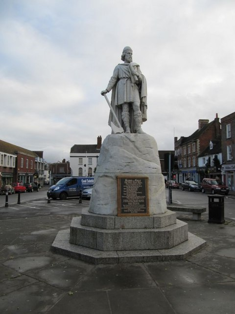 King Alfred in the market place