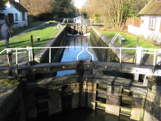 Grand Union Canal: Lock Number 72: Hunton Bridge Top Lock (2)