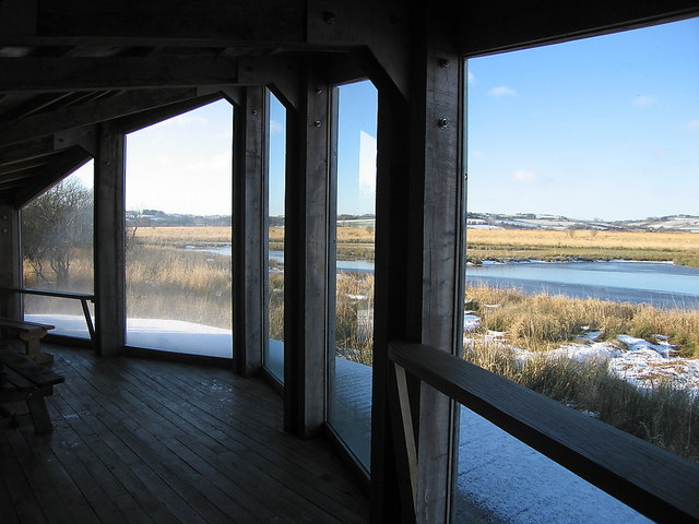 Bird hide, Cors Caron Nature Reserve