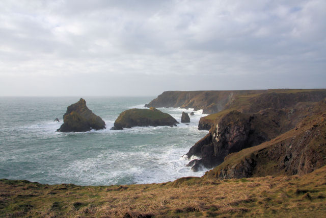 View westwards across Kynance Cove