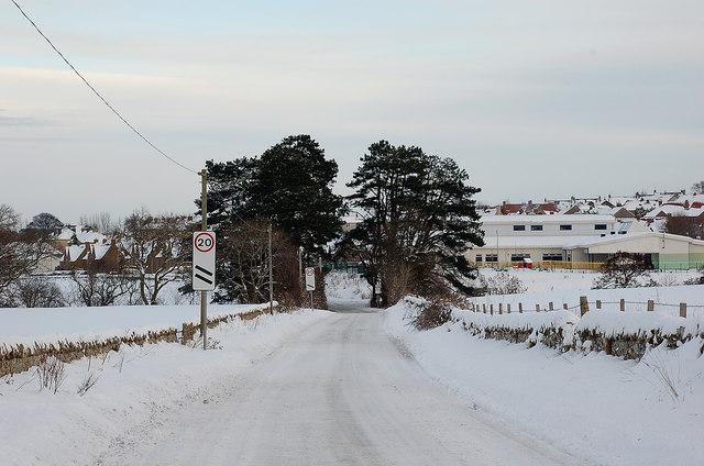 A winter day, Pathhead