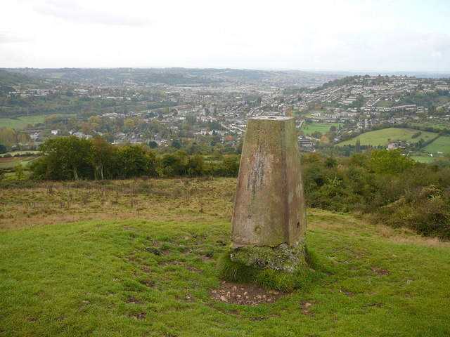 Trig point on Little Solsbury Hill