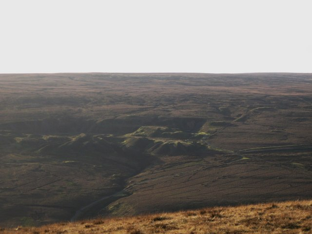 Panorama from the upper Rookhope lead smelting flue chimney (20: WSWb - The Breckensike Level)