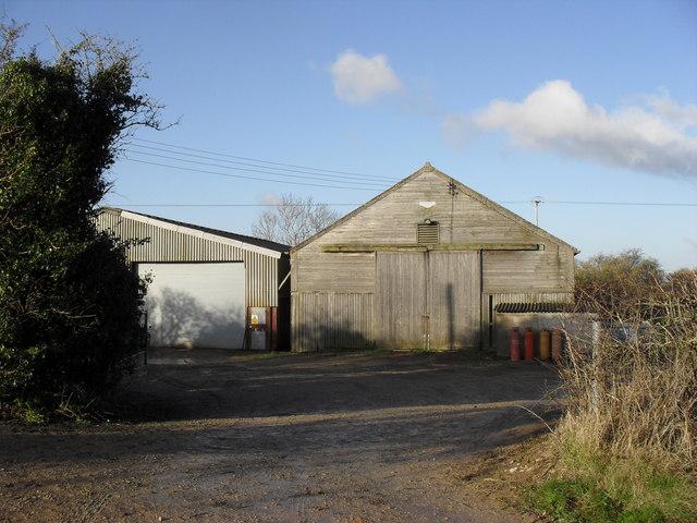 Farm buildings by the A424