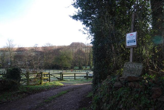 Entrance to Lowood Caravan Site