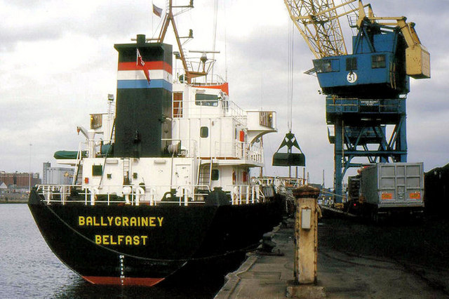 "The ""Ballygrainey"" at Belfast"