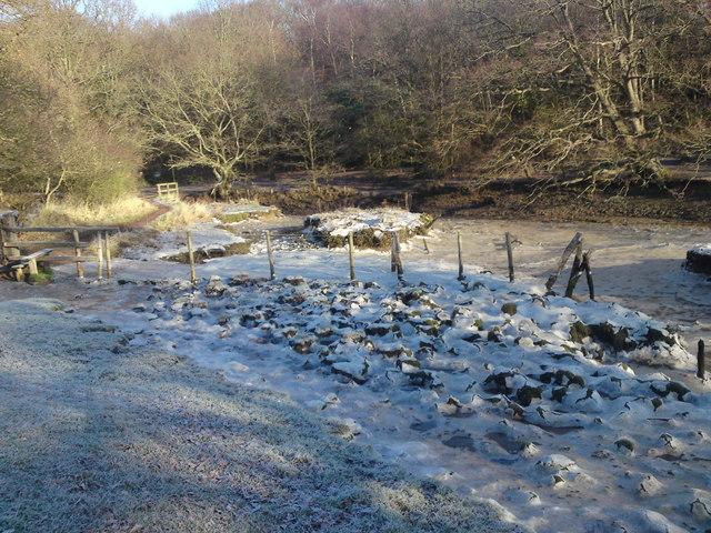 Frozen Tidal Hamble Inlet