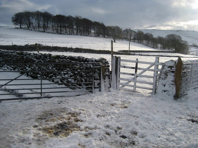 A Winter Scene near Linton