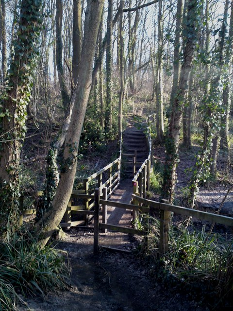 Footbridge on Manor Farm's Strawberry Trail