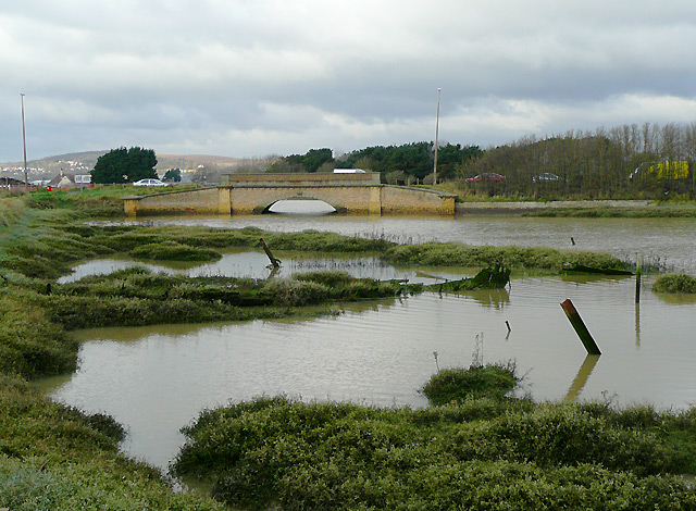 Tidal waters by Shoreham Beach, West Sussex