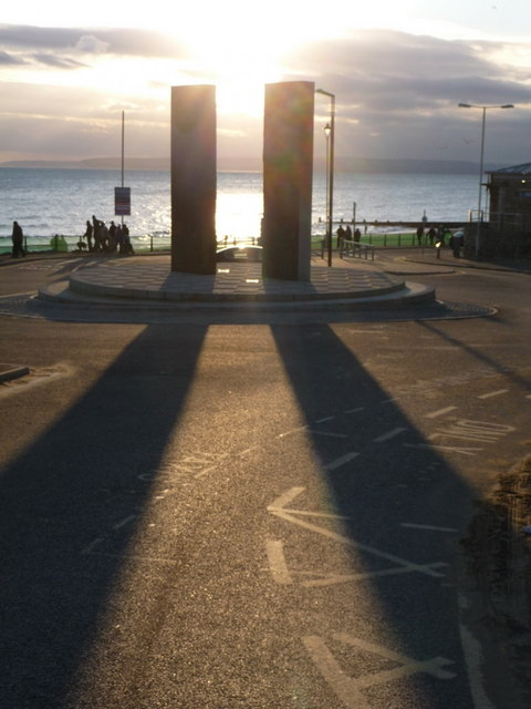 Boscombe: sculpture's two long shadows