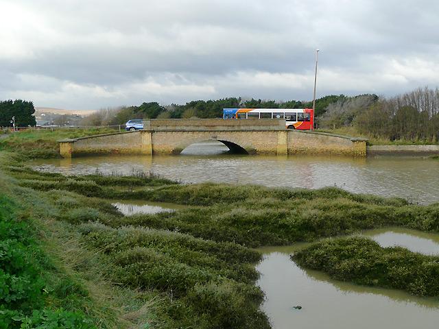 Tidal waters by Shoreham Beach, West Sussex