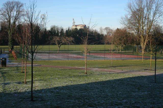Tennis courts, Bridgford Park