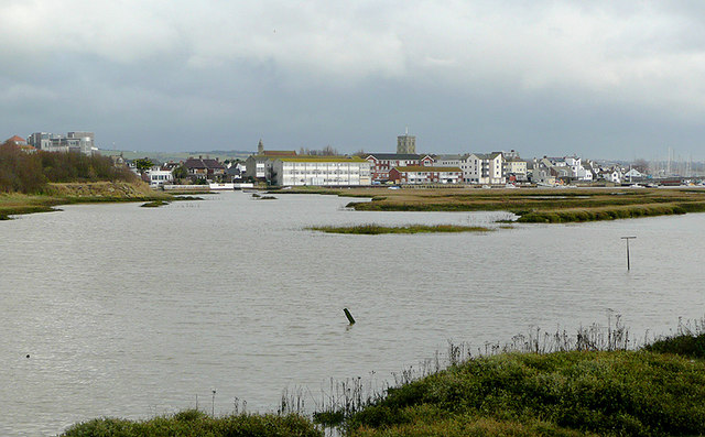 Tidal waters near Shoreham-by-Sea, West Sussex