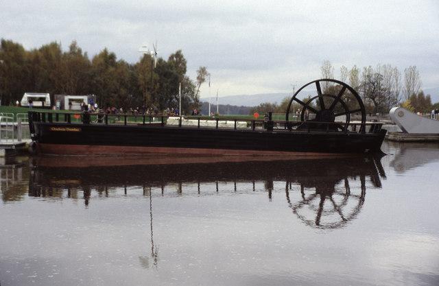 The Falkirk Wheel lower basin