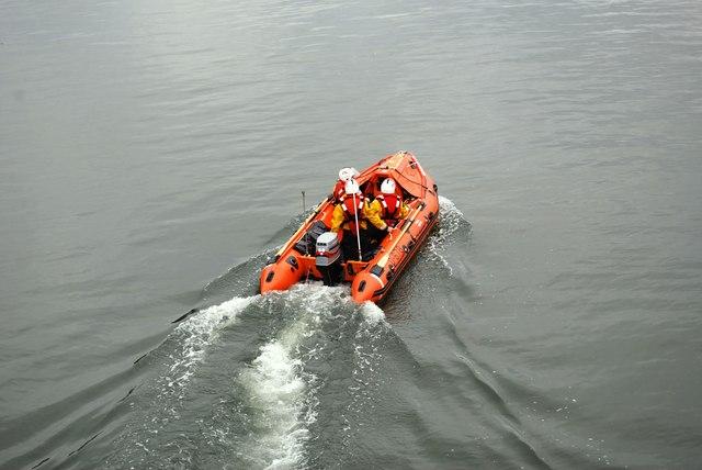 Abermaw Inshore Lifeboat on crew training