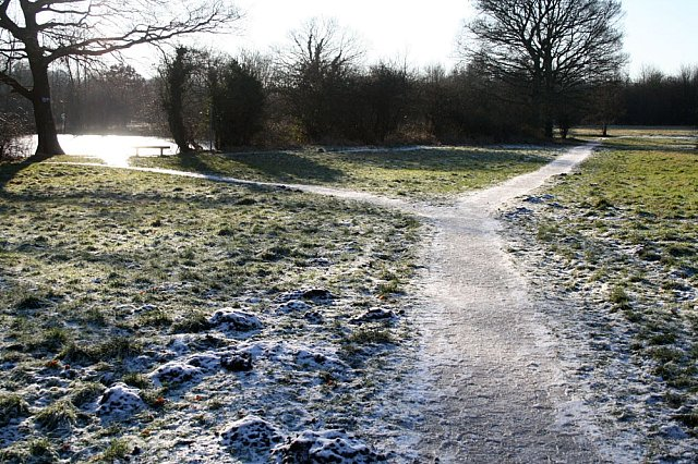 A very icy path