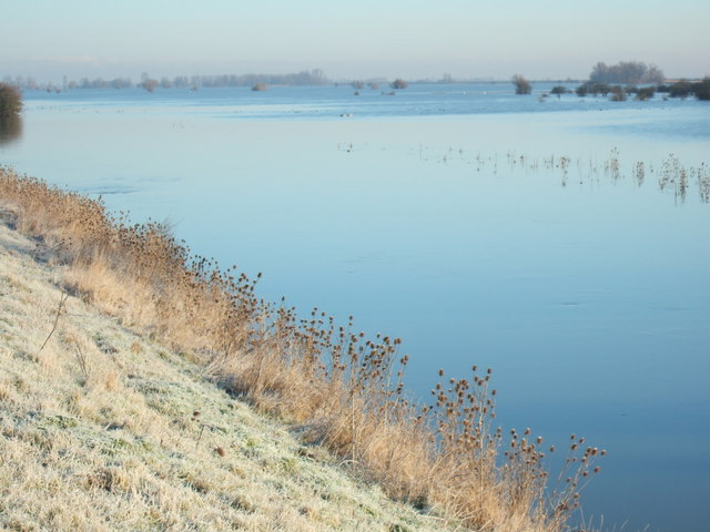Icy blue - The Ouse Washes at Mepal