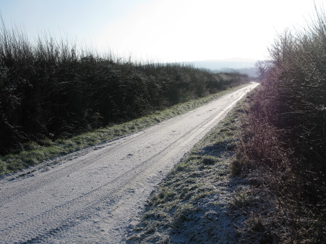 The Lane, in the direction of Hinton Parva