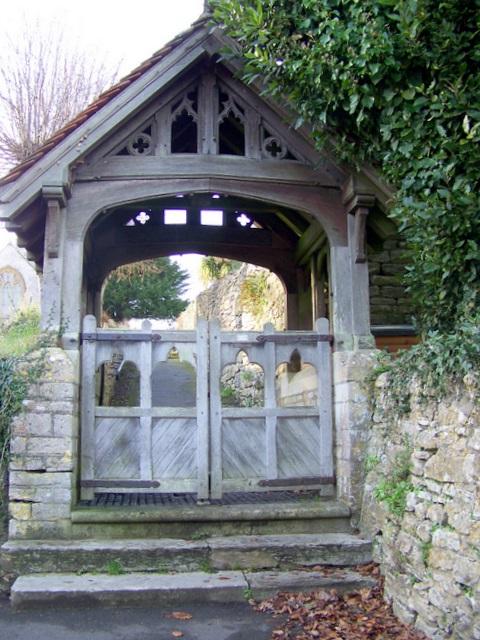 Lych gate, St Osmunds Church, Osmington