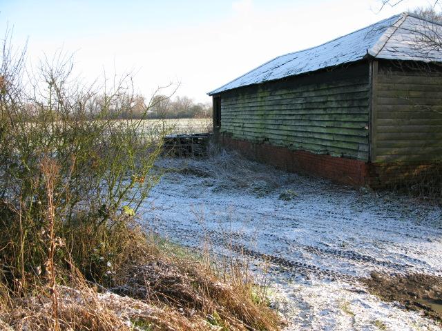 Barn at northern end of The Lane, Hinton Marsh